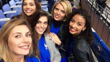 Les Miss France ont porté chance à l'Equipe de France hier soir