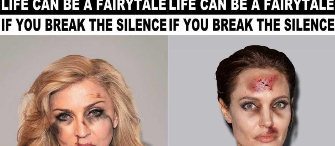 Angelina Jolie, Madonna, des femmes battues comme les autres